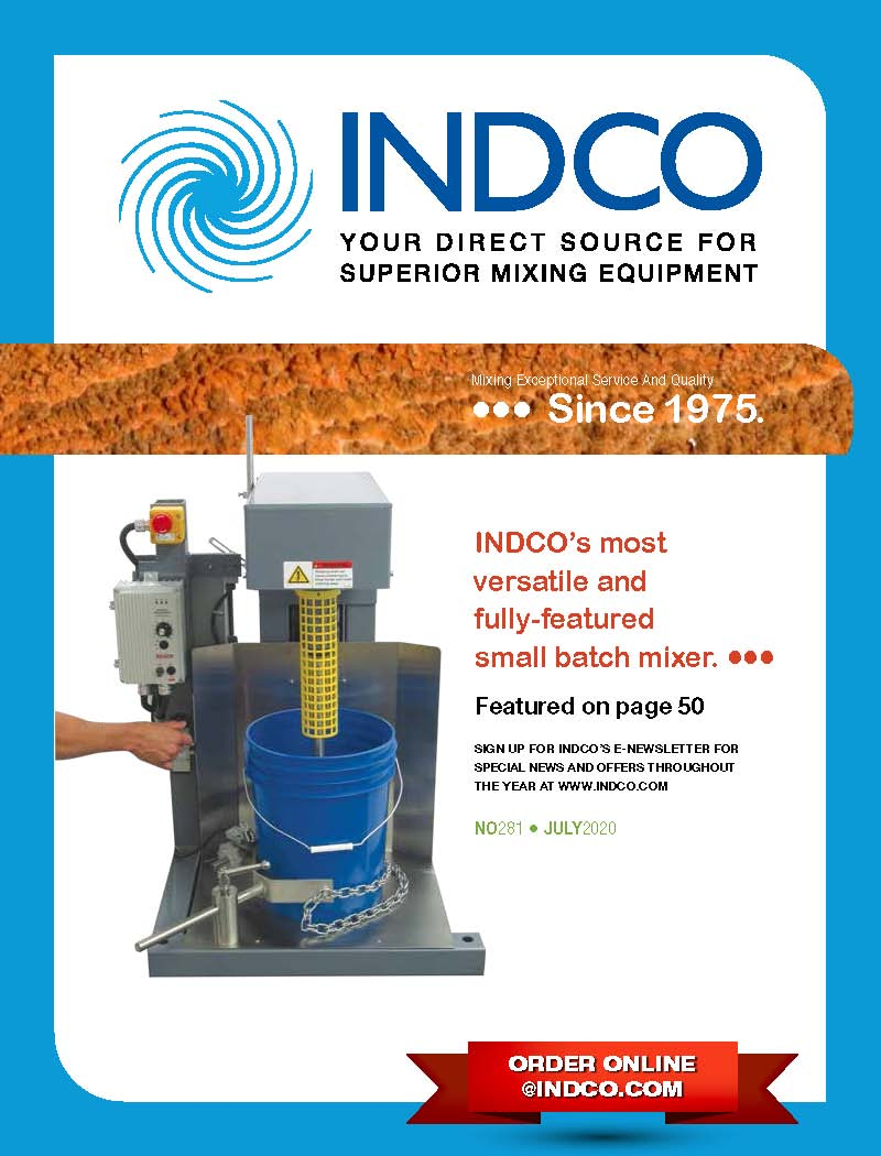 INDCO Quarterly Product Catalog for Industrial mixing equipment and accessories