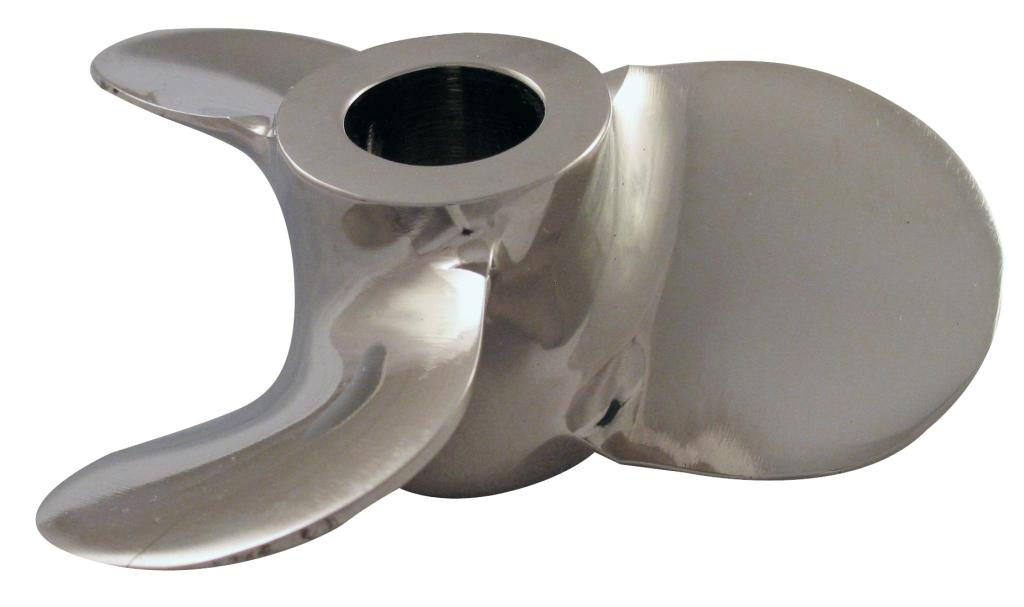 "3"" Dia. X 1/2"" Bore LH SS Square Pitch Prop - Polished"