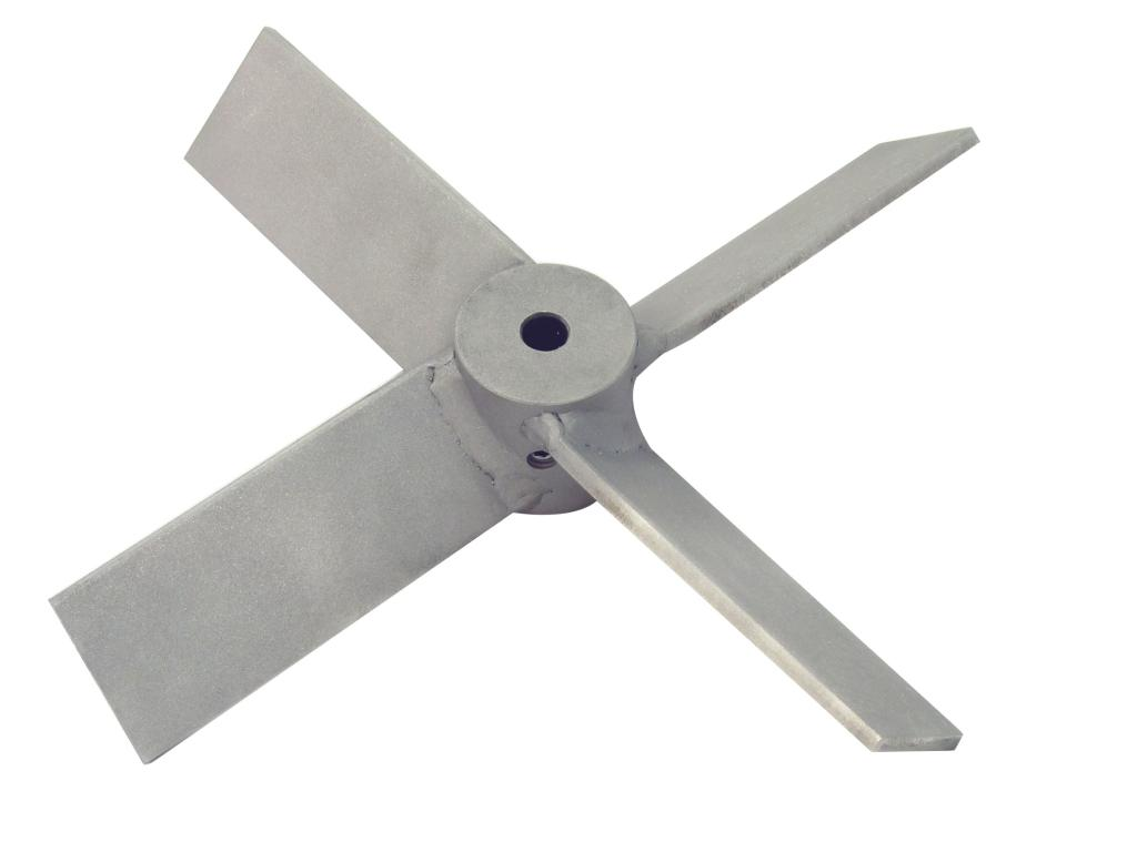 "15"" Dia. 4-Blade Axial Flow Turbine - Mill Finish"