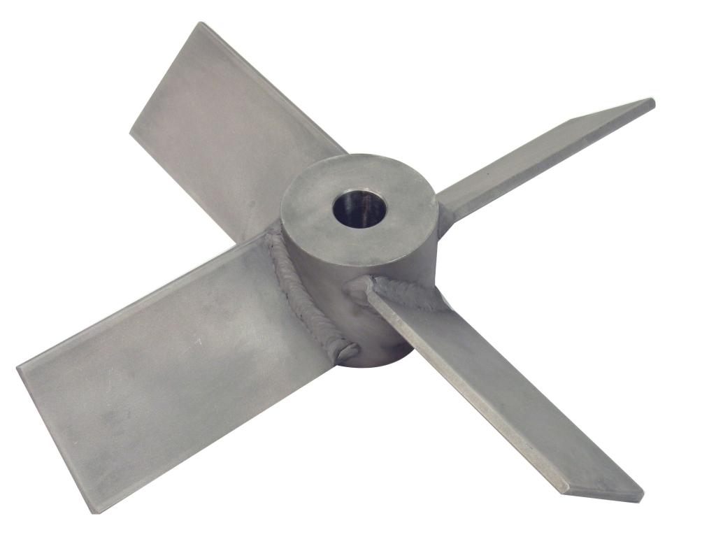 "13"" Dia. 4-Blade Axial Flow Turbine - Mill Finish"