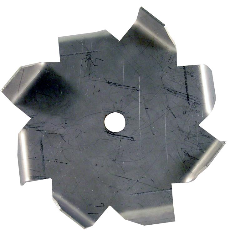 "10"" Dia. X 5/8"" Center Hole Type C 304 SS Dispersion Blade"
