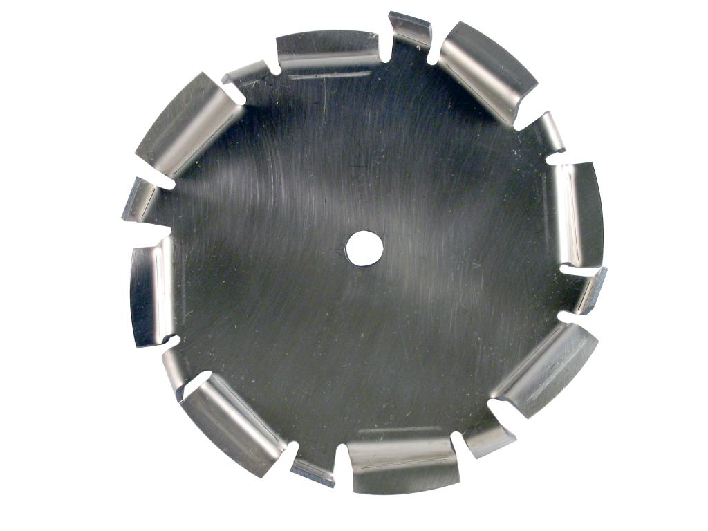 "8"" Dia. X 5/8"" Center Hole Type D  304 SS Dispersion Blade Image"