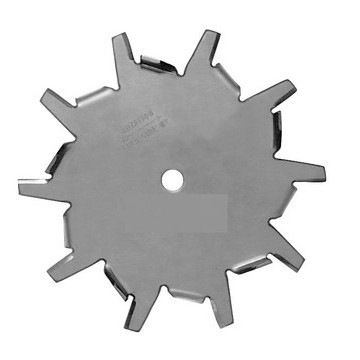 "4"" Dia. X 1/2"" Center Hole Type E 304 SS Dispersion Blade Image"