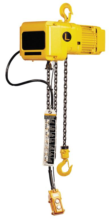 Electric Chain Hoist, 300 lb Capacity 115V 1-Phase AC