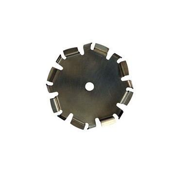 "9"" Dia. X 5/8"" Center Hole Type D 304 SS Dispersion Blade - Coated Image"