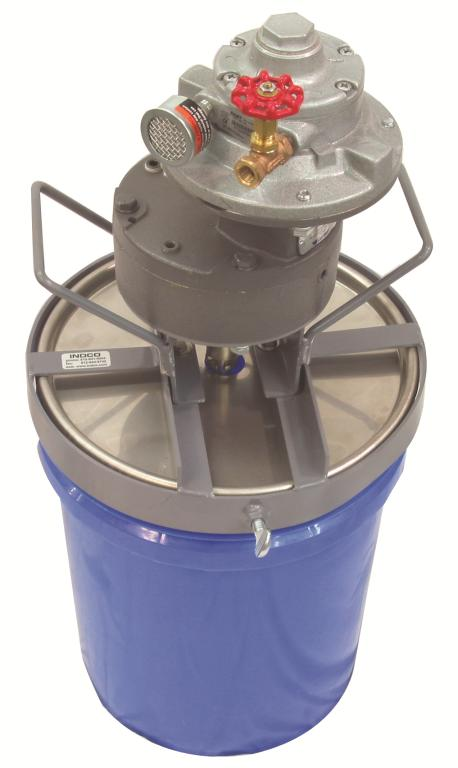 3/4 HP Air 5 Gallon Heavy Duty Mixer Includes Stainless Steel Pail Cover - image 2