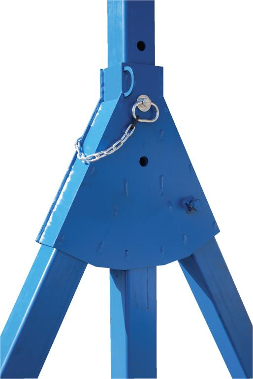 Steel Gantry Crane, 15' Wide, 14' Adjustable Height - image 2